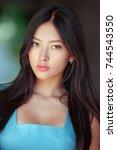 woman portrait. sensual... | Shutterstock . vector #744543550