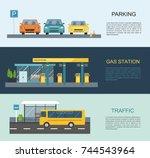 transportation info graphics...   Shutterstock .eps vector #744543964