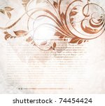invitation vintage card with... | Shutterstock .eps vector #74454424