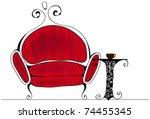 vector line art style... | Shutterstock .eps vector #74455345