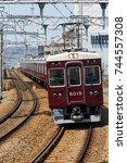 ishibashi  ikeda  osaka  japan...   Shutterstock . vector #744557308