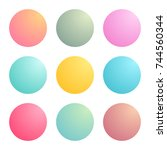 radial gradients with soft... | Shutterstock .eps vector #744560344