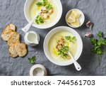 Potato Cauliflower Soup Puree...