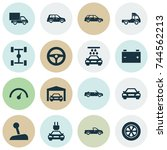 car icons set. collection of... | Shutterstock .eps vector #744562213