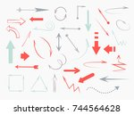 set of different arrows | Shutterstock .eps vector #744564628