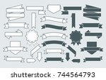 banners and labels set   Shutterstock .eps vector #744564793