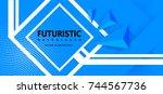 abstract background modern... | Shutterstock .eps vector #744567736