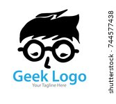 geek logo | Shutterstock .eps vector #744577438