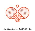 Set Of Playing Rackets For Pin...