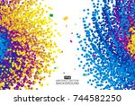 colorful abstract dot... | Shutterstock .eps vector #744582250