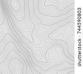topographic map background... | Shutterstock .eps vector #744590803
