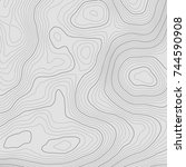 topographic map background... | Shutterstock .eps vector #744590908