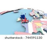 united kingdom on political...   Shutterstock . vector #744591130