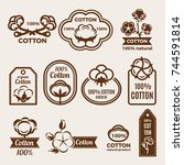different labels set with... | Shutterstock .eps vector #744591814