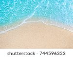 Sea beach and soft wave of blue ...