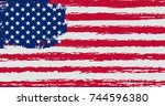 flag of the united states of... | Shutterstock .eps vector #744596380