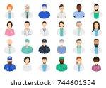 avatar doctor  hospital staff.... | Shutterstock .eps vector #744601354