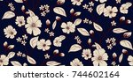 floral pattern in vector | Shutterstock .eps vector #744602164