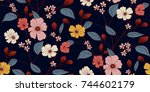 floral pattern in vector | Shutterstock .eps vector #744602179