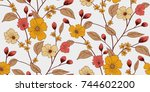 floral pattern in vector | Shutterstock .eps vector #744602200