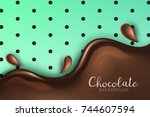 beautiful and realistic glossy... | Shutterstock .eps vector #744607594