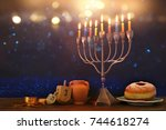 image of jewish holiday... | Shutterstock . vector #744618274