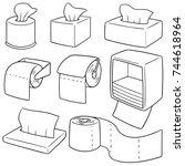 vector set of tissue paper | Shutterstock .eps vector #744618964