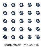 human brain processes  people... | Shutterstock .eps vector #744623746