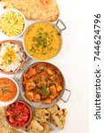 assorted indian food | Shutterstock . vector #744624796