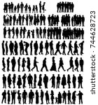 silhouette  people collection | Shutterstock . vector #744628723