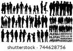 silhouette  people  | Shutterstock . vector #744628756