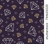 jewelry seamless pattern ... | Shutterstock .eps vector #744633220