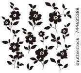 flower illustration pattern   Shutterstock .eps vector #744635386