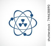 atomic power vector icon... | Shutterstock .eps vector #744638890