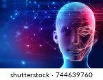 3d illustration of robotic... | Shutterstock . vector #744639760