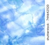 Watercolor Blue Background ...