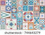 modern geometric background.... | Shutterstock .eps vector #744643279