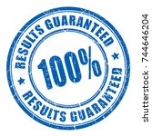 results guaranteed vector stamp | Shutterstock .eps vector #744646204