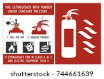 fire extinguisher signs....   Shutterstock .eps vector #744661639