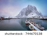 Pier With Ships In Hamnoy...