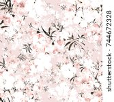 watercolor seamless pattern of... | Shutterstock . vector #744672328