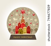 decorative illustration flat... | Shutterstock .eps vector #744677839