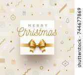 christmas holiday design  ... | Shutterstock .eps vector #744677869