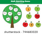 math educational game for... | Shutterstock .eps vector #744683320