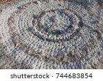 Crocheted Gray White Mat