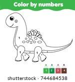 children educational game.... | Shutterstock .eps vector #744684538