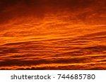 orange sunset | Shutterstock . vector #744685780