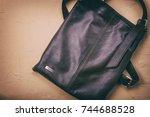 women leather handbag | Shutterstock . vector #744688528