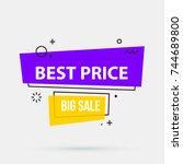 best price banner template in... | Shutterstock .eps vector #744689800