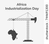 africa industrialization day.... | Shutterstock .eps vector #744691300